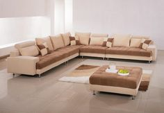 Large Living Room Sectionals This large sofa is complemented by