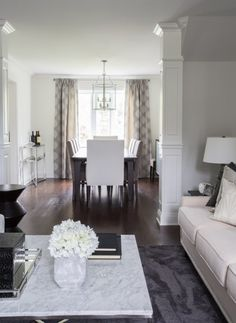 The marble top of this coffee table adds a touch of elegance to the space.