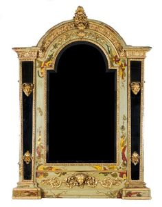 A Venetian Painted and Parcel Gilt Mirror, 19th century
