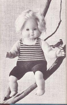 Albumarkiv - Jeg strikker dukketøj Onesies, Album, Face, Kids, Clothes, Fashion, Young Children, Outfits, Moda