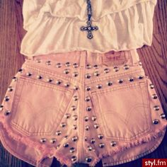 Would be cute DIY for summer! Minus the studs....