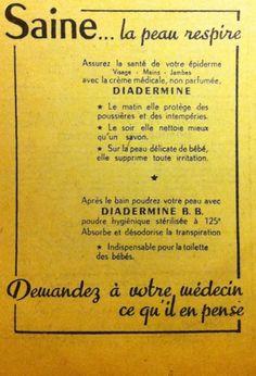 Diadermine. [Histoire de la dermatologie : https://pinterest.com/mediamed/dermatology-oldies/].