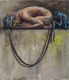 """Jonas Burgert- """"Trug"""" 2010, Oil on canvas - 70 x 60 cm"""