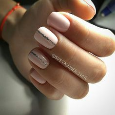 Having short nails is extremely practical. The problem is so many nail art and manicure designs that you'll find online Fabulous Nails, Gorgeous Nails, Pretty Nails, May Nails, Hair And Nails, Nude Nails, Acrylic Nails, Pink Nails, Nails 2017 Trends