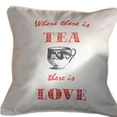 CUSHI   Where There Is Tea Cushion #pillow #cushion #homedecor Cushion Pillow, Reusable Tote Bags, Cushions, Throw Pillows, Tea, Amazing, Home Decor, Toss Pillows, Toss Pillows