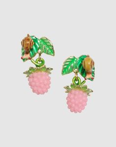 Snail and Berry Earrings by La Hormiga