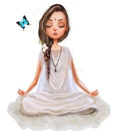 Photo about Cute cartoon girl in yoga lotus pose. Illustration of india, cute, c… Photo about Cute cartoon girl in yoga lotus pose. Illustration of. Yoga Cartoon, Cartoon Art, Cartoon Images, Cartoon Photo, Cartoon Drawings, Cartoon Characters, Meditation Art, Yoga Art, Meditation Quotes