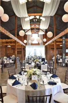navy and white wedding decor with a splash of burlap. 1000+1 Creative Ways to Add Color to Your Wedding! View more wedding ideas:  http://www.homeboutiquecraft.com