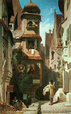 Carl Spitzweg - Der Briefbote im Rosental