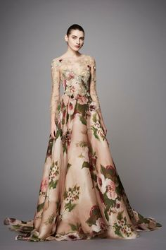 This flared gown is a perfect mother-of-the-bride look for a fall wedding. Shop it now on FarFetch.com!