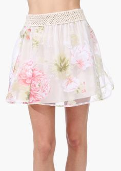 Floral Mini Skirt   #necessaryclothing