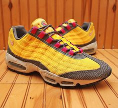 2013 Nike Air Max 95 PRM Tape Size 10 - Laser Orange Pink Dark Grey - 599425 860 | Clothing, Shoes & Accessories, Men's Shoes, Athletic | eBay!