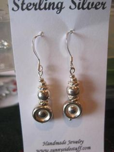 STERLING SILVER EARRINGS N0.4 FREE SHIPPING