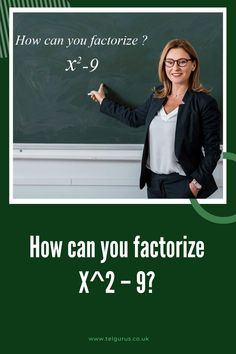 We will calculate and show you how to factorize x2 – 9 by difference of squares method. Step 1 – x2 – 9 Step 2 – We use difference of squares method to factorize x2 – 9 = a2 – b2 = (a + b) (a – b) = So, considering a = x and b = 3 = x2 – 32 get the next step on the website
