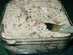 Toffee dip..... serve with granny smith apples. This dip is delicious! Let it sit in refrigerator for a few hours first so the Heath bits can meld with dip.