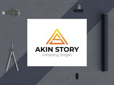 akin story designed by BdThemes. Company Slogans, Silver Spring, Show And Tell, Letter Logo, Graphics, Lettering, Graphic Design, Drawing Letters, Printmaking
