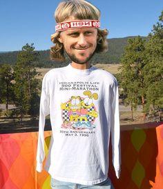vintage 90s long sleeve tee INDY 500 festival mini marathon