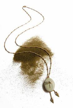 Sautoir locket dragonfly - long necklace Jewels in Paris  http://linapoum.bigcartel.com