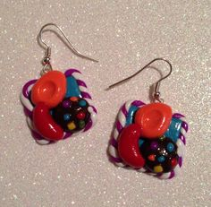 Polymer clay earrings Candy crush by FauxFoodieFlair