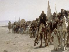 Musee d Orsay, Paris Pilgrims Going To Mecca 1861Details Leon Belly (detail).jpg (1604×1208)