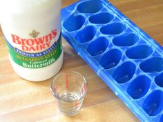 How to freeze buttermilk.  I never use a whole carton and I hate how much I waste