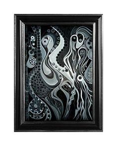 "EINGERAHMTER KUNSTDRUCK ""BLACK"" MARACHOWSKA ART MARACHOWSKA ART http://www.marachowska.com/"