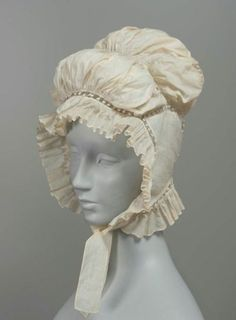 1820s cap via The Museum of Fine Arts, Boston