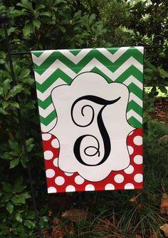 Personalized Vinyl Garden Flag...Find me on Facebook. Google: Petal Pushers, Greenville, SC Petal Pushers, Silhouette Vinyl, Cricut Creations, Garden Flags, Garden Landscaping, Personalized Flags, Flag Ideas, Monogram, Diy Crafts