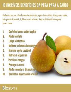 Clique na imagem e veja os 10 benefícios de pera a a saúde. #alimento…