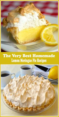 The Very Best Homemade Lemon Meringue Pie Recipes. The Very Best Meringue If your pie comes from powder in a box, STOP! A fantastic homemade lemon meringue pie, made completely from scratch, tastes much better an. Meringue Recept, Best Lemon Meringue Pie, Lemon Meringue Cheesecake, Perfect Meringue, Easy Lemon Pie, The Best Lemon Pie Recipe, Lemon Mirangue Pie Recipe, Old Fashioned Lemon Pie Recipe, Lemon Meringue Pie Recipe Paula Deen
