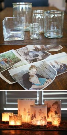 Photo transfer in vellum candles