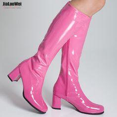 Jialuowei Fashion SpringAutumn Square heel Knee-High Zip Boots Women Fancy Dress Party Shoes 1960s Go Go Ladies Retro Plus size (32794333996)  SEE MORE  #SuperDeals