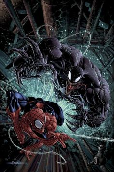 Spiderman vs Venom - Venom #14 - artist Clayton Crain