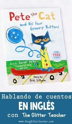 Pete the cat and his four groovy buttons, reseña de cuentos en inglés