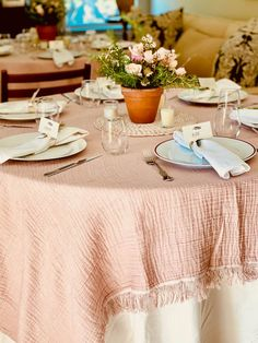 Blush Pink and Terracotta Spring Table