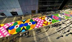 Artists Create the World's Largest Candy Carpet on the Streets of China | Junkculture
