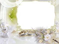 Beautiful Soft Wedding Transparent Frame