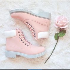 Pink shoes  shared by I.A on We Heart It