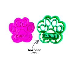 Custom Dog Paw Cookie Cutter: Personalize with your Pets Name for Dog Treats -- Get more discounts! Click the pin : Baking Accessories