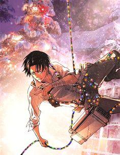 Attack on Titan Levi Merry Christmas XD I am dying. Attack On Titan Levi, Levi X Eren, Armin, Attack On Titan Tumblr, I Love Anime, Me Me Me Anime, Anime Guys, Ereri, Levi Ackerman