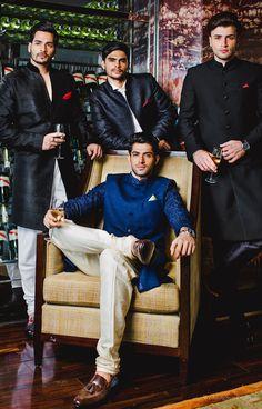 dad sherwani with cream colored pants Wedding Dress Men, Indian Wedding Outfits, Wedding Groom, Wedding Men, Wedding Suits, Indian Weddings, Farm Wedding, Wedding Couples, Boho Wedding