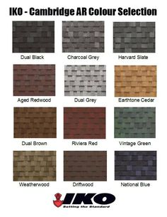 What color should you pick for your roof? IKO has some general questions to help narrow down the overwhelming color choice for your roof Slate Shingles, Asphalt Roof Shingles, Slate Roof, Roof Sealant, Roof Shingle Colors, Cedar Shakes, Residential Roofing, Exterior Paint Colors, Stone Veneer