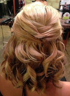 Medium Length Half Up Wedding Hairstyles Pin By Laura Steiner On…