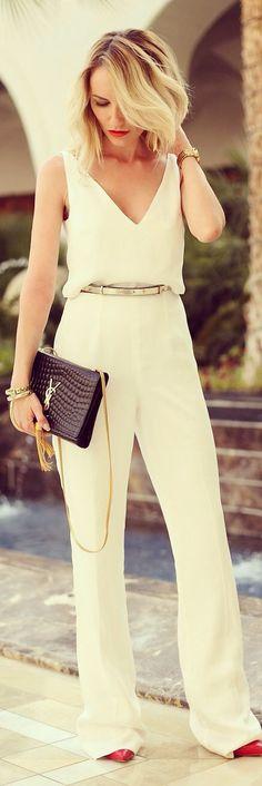 classic ivory jumpsuit