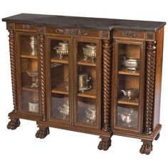 An Antique Georgian Display Cabinet | From a unique collection of antique and modern cabinets at http://www.1stdibs.com/furniture/storage-case-pieces/cabinets/