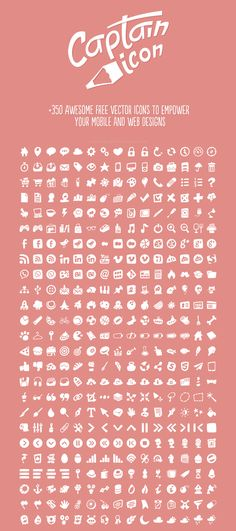 Captain Icon: +350 Awesome free vector icons to empower your mobile and web designs