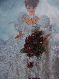 Free Crochet victorian fashions | CROCHET BRIDE DOLL PATTERN « CROCHET FREE PATTERNS Barbie E Ken, Free Barbie, Barbie Doll, Barbie Wedding Dress, Barbie Dress, Doll Dresses, Crochet Doll Dress, Crochet Barbie Clothes, Barbie Clothes Patterns