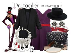 """""""Dr. Facilier +"""" by leslieakay ❤ liked on Polyvore featuring Sif Jakobs Jewellery, Marni, Band of Outsiders, Kevin Jewelers, King Baby Studio, disney, disneybound, plussize, disneycharacter and plus size dresses"""