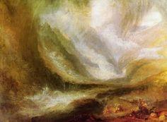 Turner, Joseph Mallord William: Schneesturm, Lawine und Überschwemmung – eine Szene im oberen Val d'Aouste, Piemont (Snow-storm, Avalanche and Inundation – a Scene in the Upper Part of Val d'Aouste, Piedmont)