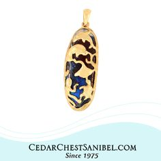 Another One-of-a-Kind Cedar Chest Original Design. 14KT Gold Sealife Pendant with Dolphin, Manatee, Manta Ray, Turtle, and Octopus on Yowah Opal.  #ShopOnSanibel #Handmade #SanibelTradition